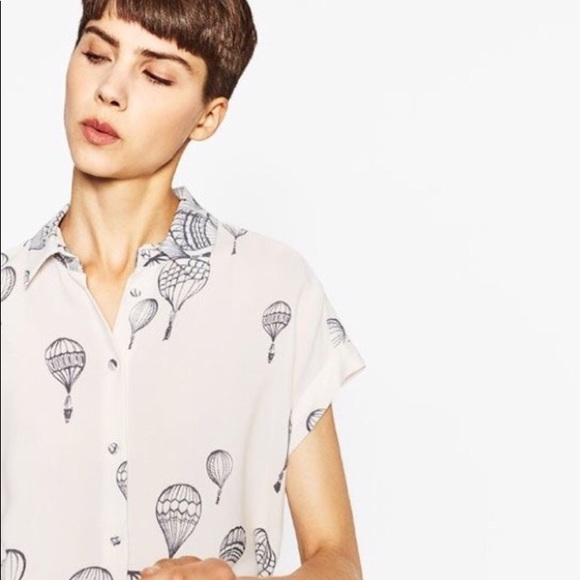 17357264114eb1 Zara hot air balloon shirt top button blouse. M_5b92fb0af63eeab1e03a09dc